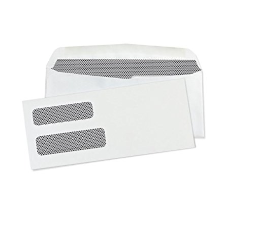 10-Double-Window-Security-Business-Mailing-Envelopes-for-Invoices-Statements-and-Legal-Documents-GUMMED-Closure-Security-Tinted-Size-4-18-x-9-12-White-24-LB-500-Count-30101-0-0