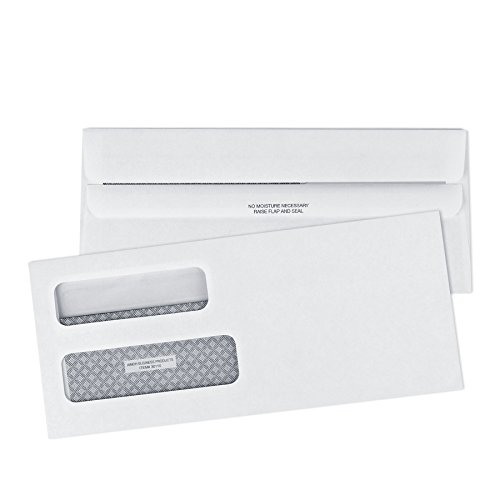 10-FLIP-SEAL-Double-Window-Security-Business-Mailing-Envelopes-for-Invoices-Statements-Legal-Documents-Self-Sealing-Adhesive-Seal-Security-Tinted-Size-4-18-x-9-12-24-LB-500-Count-30110-0-0