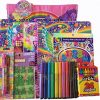 10-Piece-Lisa-Frank-Activity-Gift-Set-Skye-Reusable-Tote-Bag-2-Pocket-Folder-with-Matching-Spiral-Notebook-2-Giant-Coloring-and-Activity-Books-400-Stickers-24-Crayons-10-Markers-6-Color-Pen-0