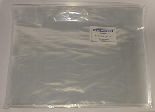 1000-9-x-12-Poly-Clear-Plastic-T-Shirt-Apparel-Bags-1-Mil-2-Back-Flap-Lock-0