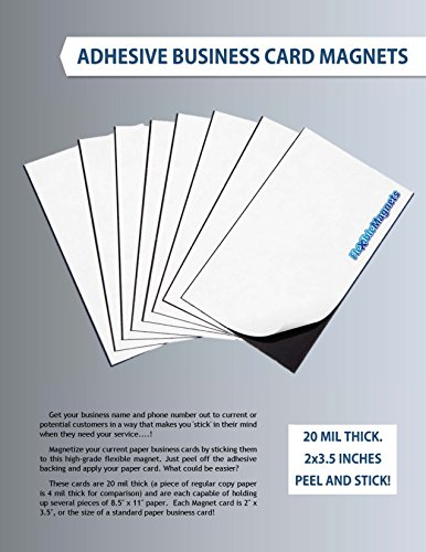 1000-Self-Adhesive-Magnetic-Business-Card-Magnets-20-mil-Peel-and-Stick-FREE-SHIPPING-0