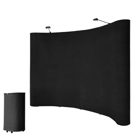 10FT-Black-Portable-Pop-Up-Display-Trade-Show-Booth-Kit-with-Spotlights-Trolley-Case-Exhibition-0