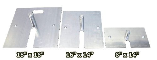 16-x-14-10-lb-Steel-Base-Plate-with-Pin-and-Edge-Protectors-For-Pipe-and-Drape-Displays-and-Backdrops-0-1
