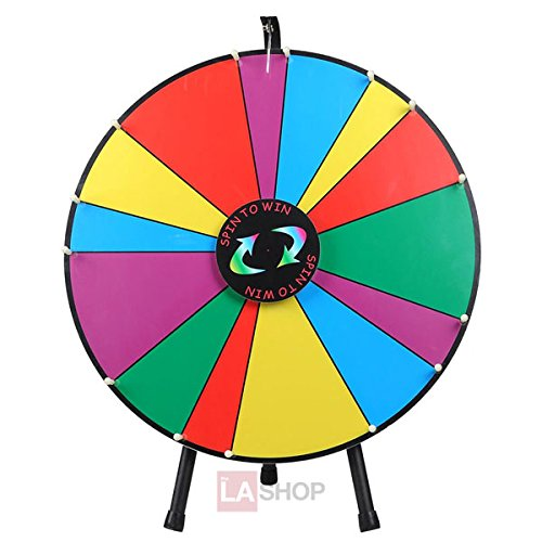 24 Inches Round Spinning Tabletop Board Rainbow Multi
