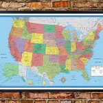 24×36-United-States-USA-US-Classic-Elite-Push-Pin-Travel-Wall-Map-Foam-Board-Mounted-or-Framed-0