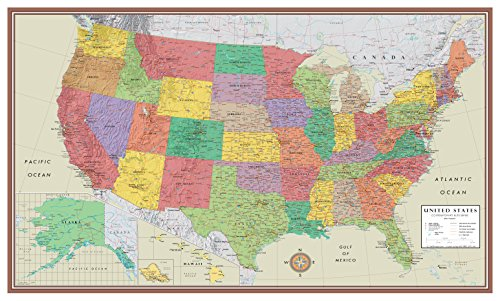 24×36-United-States-USA-US-Contemporary-Elite-Push-Pin-Travel-Wall-Map-Foam-Board-Mounted-or-Framed-0-0