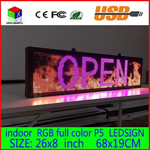 26x-8-Programmable-Scrolling-Message-LED-Display-Sign-led-panel-Indoor-Board-P5-full-color-0-0