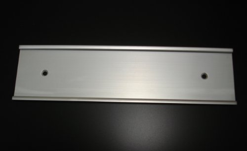 2×10-Wall-Mount-Name-Plate-Holders-Matte-Silver-Not-Shiny-Pack-of-10-0