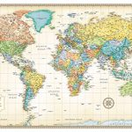 32×50-Rand-McNally-World-Classic-Push-Pin-Travel-Wall-Map-Foam-Board-Mounted-or-Framed-0-0