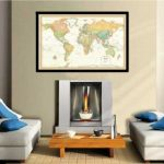 32×50-Rand-McNally-World-Classic-Push-Pin-Travel-Wall-Map-Foam-Board-Mounted-or-Framed-0-1