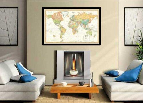 32×50-Rand-McNally-World-Classic-Push-Pin-Travel-Wall-Map-Foam-Board-Mounted-or-Framed-0-1