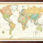 32×50-Rand-McNally-World-Classic-Push-Pin-Travel-Wall-Map-Foam-Board-Mounted-or-Framed-0