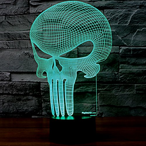 3D-Punisher-Skull-Lighting-by-Playtime-123-is-a-Great-Nightlight-with-a-Soft-Glow-for-Kids-These-Lights-Make-Beautiful-Gifts-and-Amazing-Desk-Lamps-for-Dad-Start-enjoying-your-own-3d-Light-Today-0-0