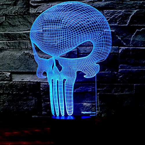 3D-Punisher-Skull-Lighting-by-Playtime-123-is-a-Great-Nightlight-with-a-Soft-Glow-for-Kids-These-Lights-Make-Beautiful-Gifts-and-Amazing-Desk-Lamps-for-Dad-Start-enjoying-your-own-3d-Light-Today-0-1
