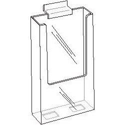 4×9-Slat-Wall-Clear-Acrylic-Brochure-Holder-for-Trifold-Literature-Lots-of-15-0