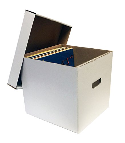 5-12-33RPM-Record-Album-Storage-Boxes-with-Removable-Lid-Holds-Up-to-65-Vinyl-Records-VIRGIN-WHITE-by-MAX-PRO-0