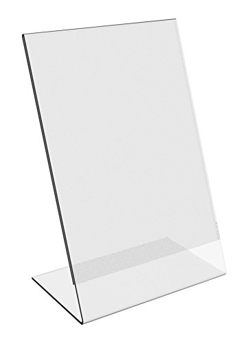 6-Pack-8-x-10-Clear-Acrylic-Slant-Back-Ad-Sign-Holder-Plastic-Slanted-Picture-Photo-Frame-0-0