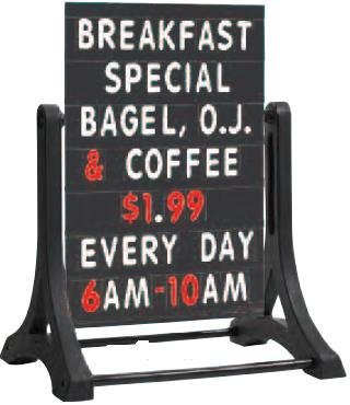 AARCO-Products-ROC-5-The-RockerTM-double-sided-sidewalk-sign-with-black-changeable-letterboard-0