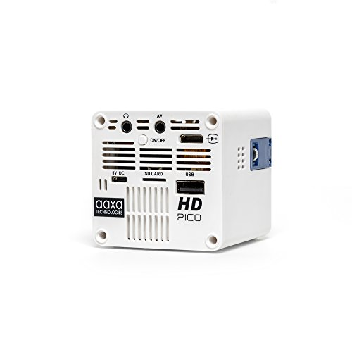 AAXA-HD-Pico-LED-Projector-with-150-Minute-Rechargeable-Battery-1280-x-720p-HD-Native-Resolution-Portable-Mini-Cube-Design-20000-Hour-LEDs-with-Onboard-Media-Player-0-1