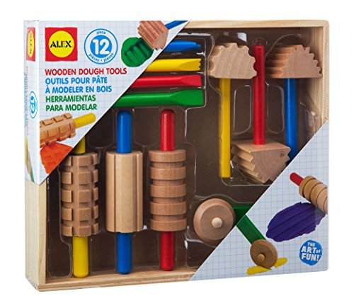 ALEX-Toys-Artist-Studio-Wooden-Dough-Tools-Set-12-Piece-0