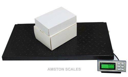 AMSTON-SCALES-400-LB-x-01-LB-38-x-20-Inch-Platform-Digital-Heavy-Duty-Welded-Steel-Floor-Bench-Shipping-Scale-0-0