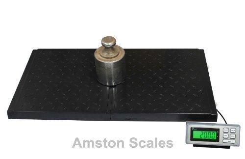 AMSTON-SCALES-400-LB-x-01-LB-38-x-20-Inch-Platform-Digital-Heavy-Duty-Welded-Steel-Floor-Bench-Shipping-Scale-0-1