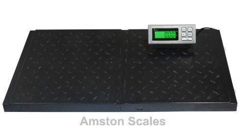 AMSTON-SCALES-400-LB-x-01-LB-38-x-20-Inch-Platform-Digital-Heavy-Duty-Welded-Steel-Floor-Bench-Shipping-Scale-0