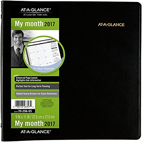 AT-A-GLANCE-5-Year-Monthly-Planner-2017-60-Months-9-x-11-Inch-Page-Size-Black-7029605-0