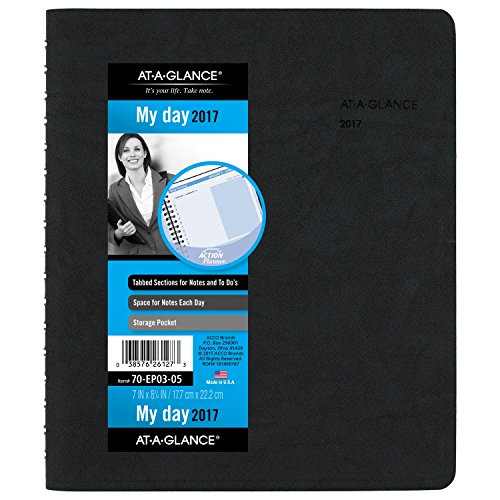AT-A-GLANCE-Daily-Appointment-Book-Planner-2017-The-Action-Planner-7-x-8-34-Black-70-EP03-05-0