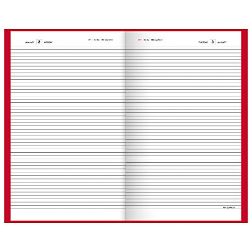 AT-A-GLANCE-Diary-2017-Standard-Daily-8-316-x-13-716-Red-SD381-77-0-0