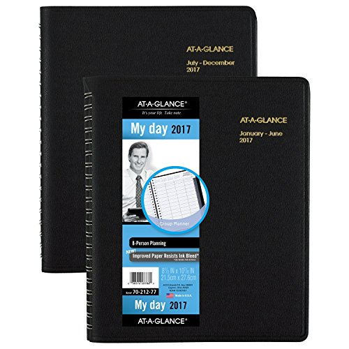 AT-A-GLANCE-Group-Daily-Appointment-Book-Planner-2017-Eight-Person-8-12-x-10-78-Black-70-212-77-0