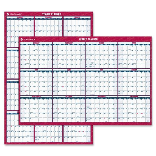 AT-A-GLANCE-Wall-Calendar-2016-Erasable-Reversible-VerticalHorizontal-12-Months-48-x-32-Inches-PM326-28-0-0