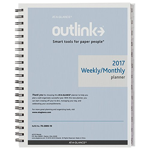 AT-A-GLANCE-Weekly-Monthly-Planner-2017-Refill-for-70-2000-70-2001-Outlink-8-12-x-11-70-2009-10-0-0