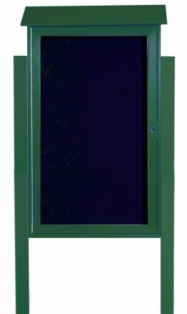 Aarco-Products-Inc-PLD4226LDPP-4-Green-Single-Hinged-Door-Plastic-Lumber-Message-Center-with-Letter-Board-Posts-Included-42-inH-x-26-inW-0