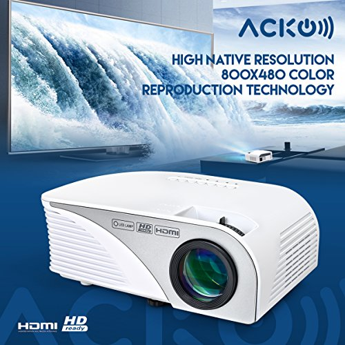 Acko-Portable-Mini-LED-Projector-Office-Home-Theater-1200-LM-Multimedia-Outdoor-Projector-20-150-Screen-HDMI-VGA-USB-AV-SD-Audio-Out-1080P-Smart-Phone-Tablet-Computers-White-Warranty-Included-0-0