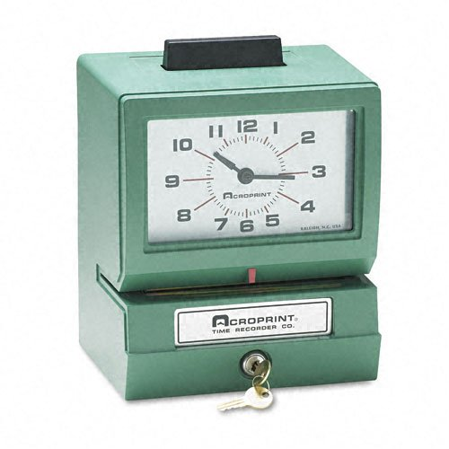 Acroprint-125ER3-Heavy-Duty-Manual-Time-Recorder-for-Day-of-the-Week-and-Hour-0-23-and-Hundredths-Time-Clock-0