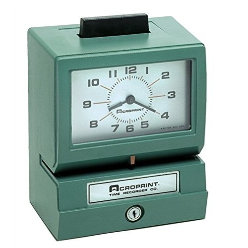 Acroprint-125NR4-Heavy-Duty-Manual-Time-Recorder-for-Month-Date-Hour-1-12-and-Minutes-Time-Clock-Time-Clock-0