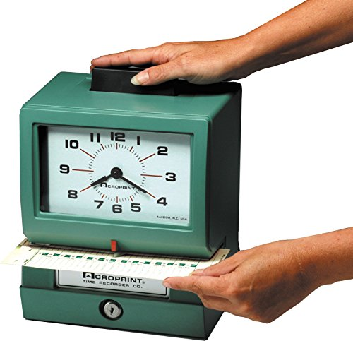 Acroprint-BP125-R6AR3-Heavy-Duty-Manual-Battery-Operated-Time-Recorder-for-Day-of-the-Week-Hour-1-12-and-Minutes-Time-Clock-0-0