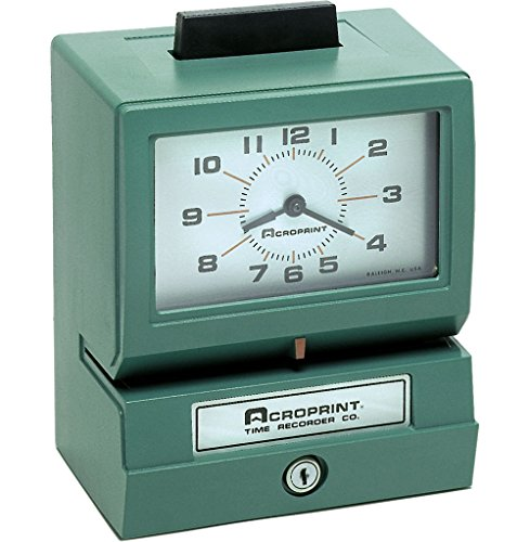 Acroprint-BP125-R6AR3-Heavy-Duty-Manual-Battery-Operated-Time-Recorder-for-Day-of-the-Week-Hour-1-12-and-Minutes-Time-Clock-0