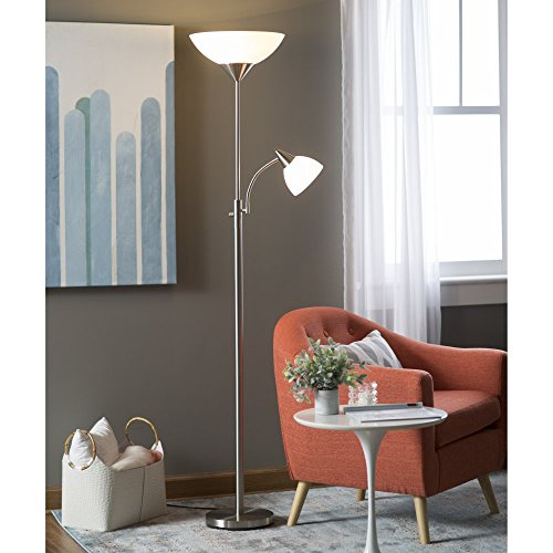 Adesso-Piedmont-300-Watt-Incandescent-Torchiere-with-60-Watt-Adjustable-Reading-Lamp-0
