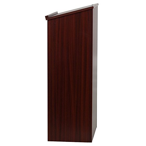 AdirOffice-Mahogany-Stand-up-Floor-standing-Podium-Lectern-with-Adjustable-Shelf-and-PenPencil-Tray-0-0