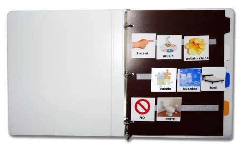 All-in-One-Kit-for-Autism-Communication-160-large-color-PHOTOS-120-velcro-dots-24-velcro-strips-8-page-dividers-and-binder-revised-pics-are-compatible-with-PECS-picture-exchange-communication-system-A-0-0