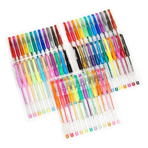 AmazaPens-Gel-Pens-60-Value-Pack-40-More-Ink-than-Other-Sets-Top-Quality-Coloring-Pens-for-Adult-Coloring-Books-47-Unique-Colors-Best-Gift-Includes-Glitter-Neon-Pastel-Flouro-Metallic-0-0