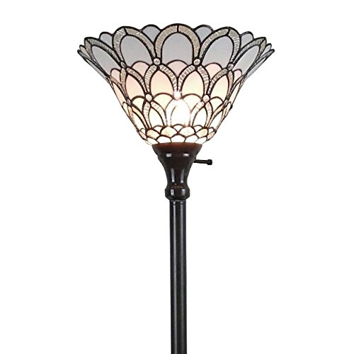 Amora-Lighting-AM071FL14-Tiffany-style-Jewel-72-inch-Floor-Torchiere-Lamp-White-0