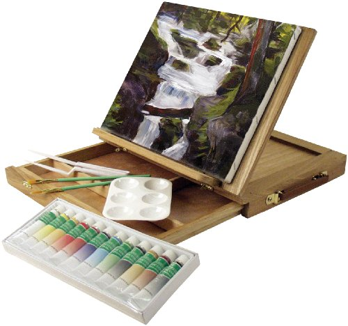 Art-Advantage-Wood-Art-Box-Easel-Paint-Set-0