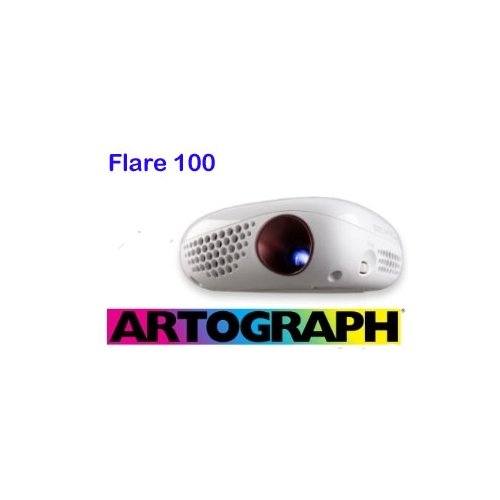 Artograph-Flare-100-Digital-Battery-Operated-Art-Projector-is-a-Compact-Portable-Size-That-Projects-a-Sharp-Image-from-4-Inches-from-Your-Surface-Up-to-Mural-Size-0