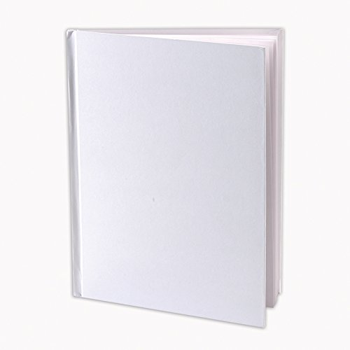 Ashley-Productions-ASH10700BN-Hardcover-Blank-Book-8-18-x-6-38-Grade-25-Height-7-Wide-8-Length-White-Pack-of-10-0