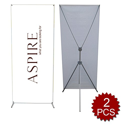 Aspire-Aluminum-X-Banner-Stand-Heitht-Adjustable-2Pcs-0