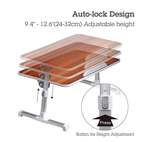 Avantree Quality Adjustable Laptop Bed Table Portable