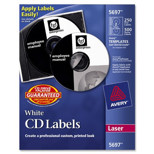 Avery-CD-Labels-White-Matte-250-CD-Labels-and-500-Case-Spine-Labels-5697-0